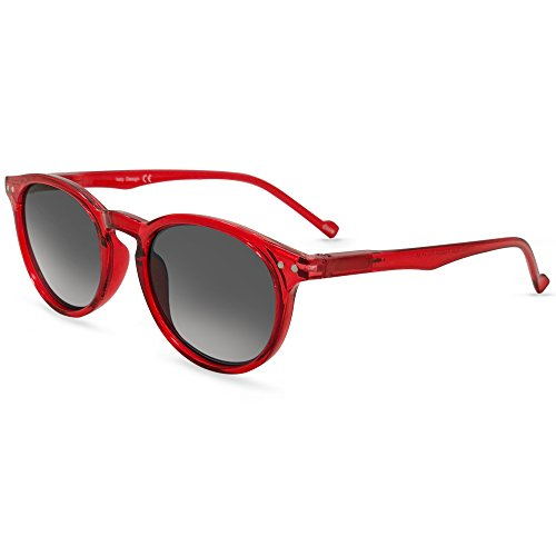 In Style Eyes Flexible Full Reader Sunglasses. Not bifocals Red +1.00