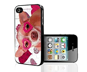 Valentines Chihuahua Hard Snap On Case (iPhone 4/4s)