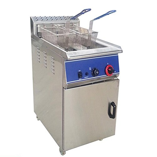 Intbuying Single-Cylinder Vertical Stainless Steel Natural Gas Fryer 2800Pa Pressure New