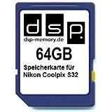 DSP Memory Z-4051557424920 64GB Speicherkarte für Nikon COOLPIX S32