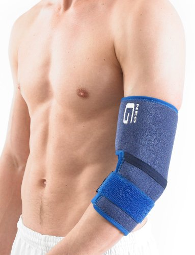 Neo G Elbow Support - For Epicondylitis, Tennis Golfers Elbow, Sprains, Strain Injuries, Tendonitis, Arthritis, Recovery, Sports - Adjustable Compression - Class 1 Medical Device - One Size - Blue by Neo-G (Image #5)