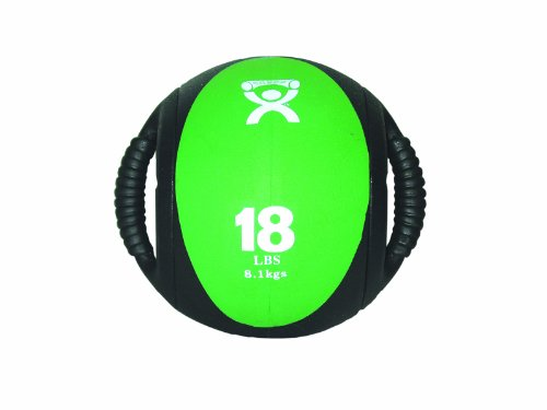CanDo Dual Handle Medicine Ball, Green