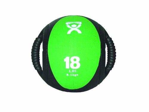 CanDo Dual Handle Medicine Ball, Green