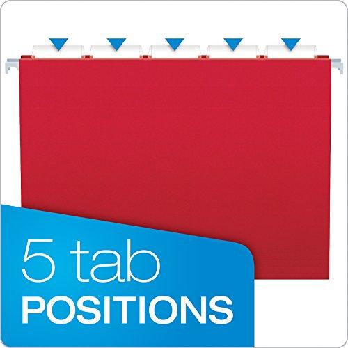 Pendaflex Essentials Hanging Folders, Letter Size, Assorted Colors, 25 per Box (81612)