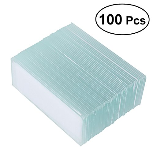 UKCOCO 100 Pieces Microscope Blank Slides for Basic Biological Science Education