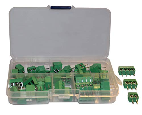(Screw Terminal Block Kit Long Pins for Breadboard 5 mm Pitch 2, 3, 4 Pole (40 pcs))