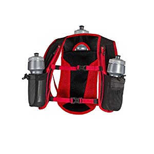 SLS3 Running Hydration Vest, Backpack, 3 Bottles, Adjustable Strap System - Red