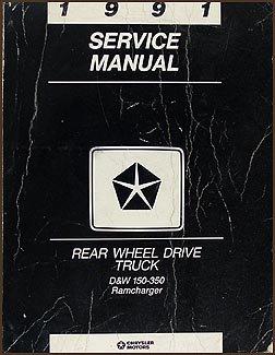 1991 Dodge Pickup Truck and Ramcharger Repair Shop Manual Original