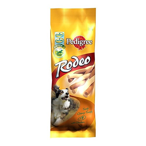 Pedigree Rodeo with Chicken (4 per pack - 70g) - Pack of 6 (Rodeo Chicken)