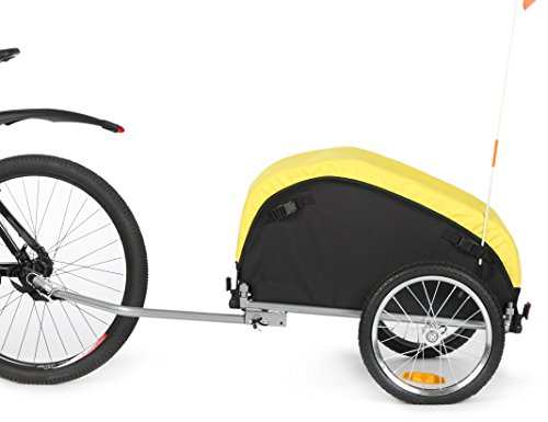 Sepnine Bicycle Cargo Storage Cart and Luggage Trailer with Removeable Weather Cover 20217