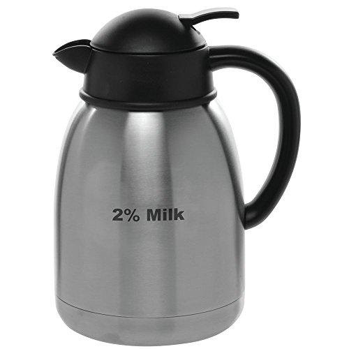 HUBERT Stainless Steel Creamer Carafe With 2% Milk Imprint, 1.5 Liter by Hubert