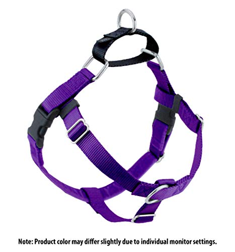 2 Hounds Design Freedom No-Pull No Leash Harness Only, 1-Inch, Medium, Purple