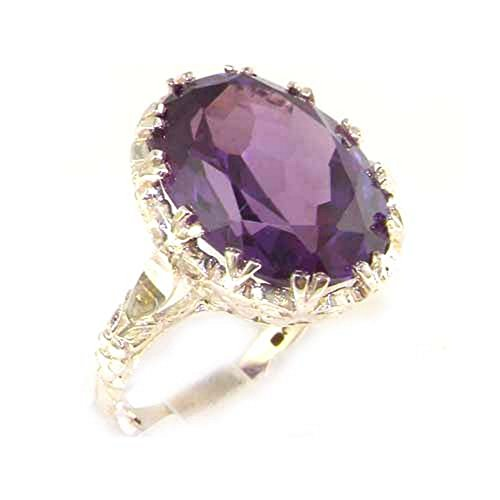 Luxury Solid Sterling Silver Large 16x12mm Oval 12ct Synthetic Alexandrite...