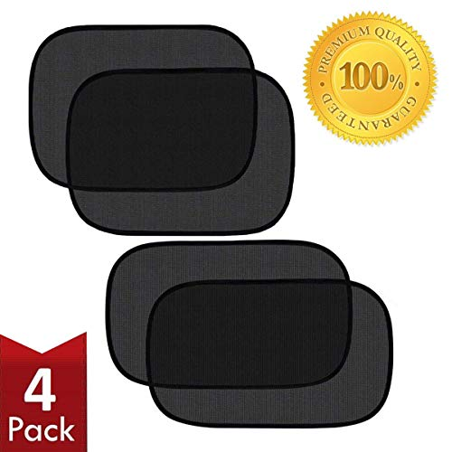 Pulaisen Car Window Shade - Sunshade for Car Side Window Clings - 80GSM UPF50+ Blocks Over 99% of Harmful UV Rays - Baby Side Window Car Sun Shades 20