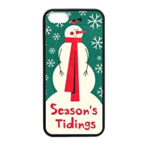 Christmas Wallpaper Season's Tidings Super Fit iPhone 5/5S Case for Apple iPhone 5 5S