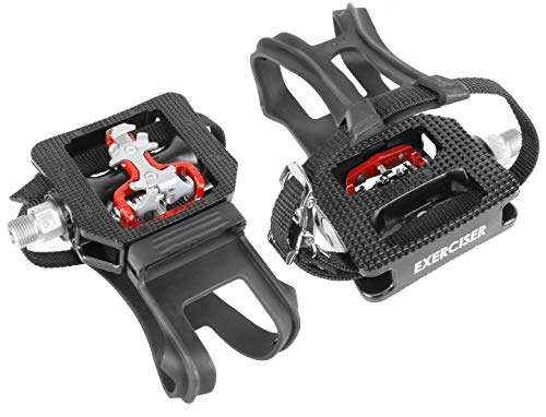 Wellgo WPD-E003 Shimano SPD Compatible Spin Bike Pedals (Cage Bike Street)