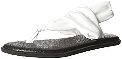 Sanuk Women's Yoga Sling 2 Flip Flop, White, 6 M US