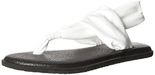 Sanuk Women's Yoga Sling 2 Flip Flop, White, 9 M US