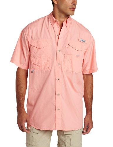 Columbia Men's Bonehead Short Sleeve Shirt, Sorbet, X-Large
