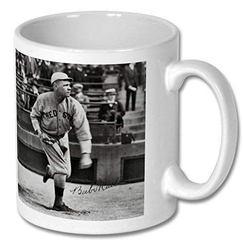 (Star Prints UK Babe Ruth - Boston Red Sox - Baseball 1 Personalised Gift Mug Coffee Tea Drink Cup Autograph Print (No Personalised Message))