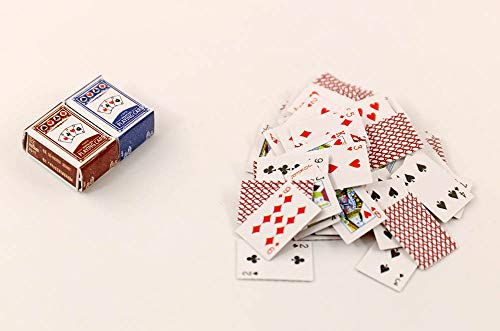 - nanguawu 2 Boxes Poker Playing Games Cards (Total 54) 1/12 Dollhouse Miniature Accessory