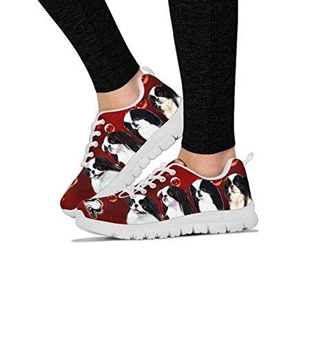Sneakers Women's Print Choose Your Shoetup Casual Running Breed Japanese Shoes Chin Custom Dog xS1U0