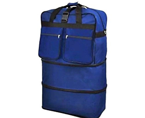 30blue-expandable-rolling-luggae-duffle-bag-w-spinner-wheels-unzips-upto3-sizes