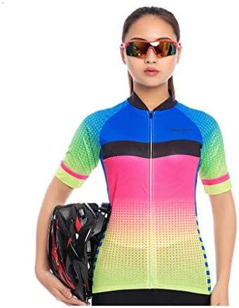 女性のサイクリングジャージとパッド入りのショートパンツ半袖セット屋外スポーツスーツ