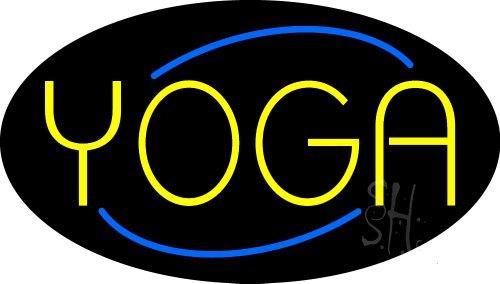 - Yoga Animated Clear Backing Neon Sign 17