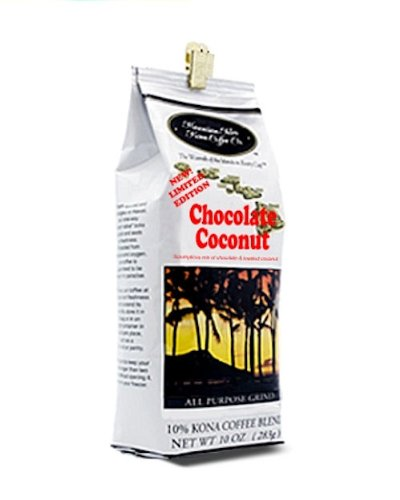 Hawaiian Isles Chocolate Coconut Kona Coffee Terrain 10 oz.