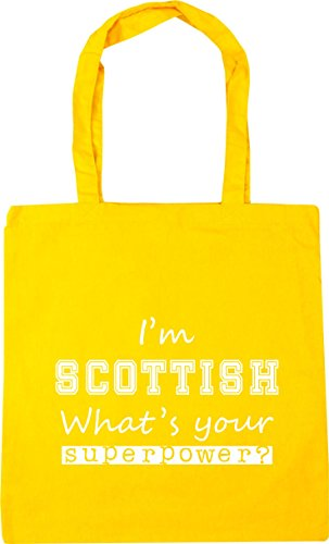 Tote Superpower What's 42cm Yellow I'm HippoWarehouse 10 x38cm litres Shopping Gym Scottish Bag Beach Your qXSEI