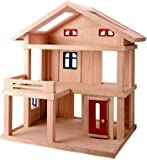 Plan Toys Terrace Dollhouse – Compact Wooden Set, Baby & Kids Zone