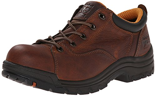 Leather Mesh Oxfords (Timberland PRO Women's 63189 Titan Oxford,Brown,7 M)