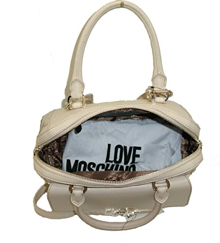Love Moschino - Bolso de asas para mujer Hueso AVORIO