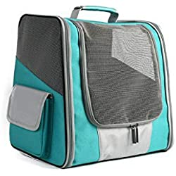 Dog Backpack Carrier for Small Dogs or Cats Mesh Pet Bag for Travel Hiking Walking Cycling and Outdoor Use(Green,onesize)