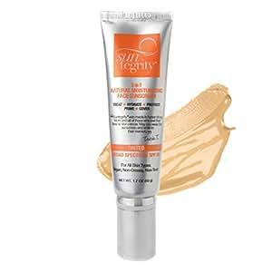 "Suntegrity - ""5 in 1"" Natural Moisturizing Face Sunscreen - Tinted - GOLDEN LIGHT"