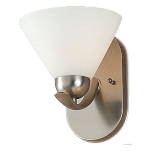 - Quoizel DI8501ES Demitri 8-Inch Bath Sconce with One Light with Opal Etched Glass, Empire Silver Finish