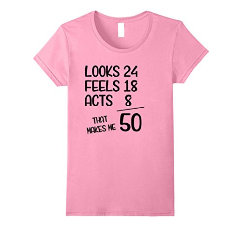 Womens Funny 1968 50th Years Old Birthday Gift T-Shirt Large Pink