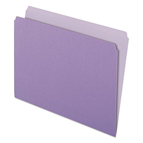 (Wholesale CASE of 10 - Esselte Oxford Straight Cut Colored File Folders-File Folder, Straight Tab Cut, Letter-Size, 100/BX, Lavender)
