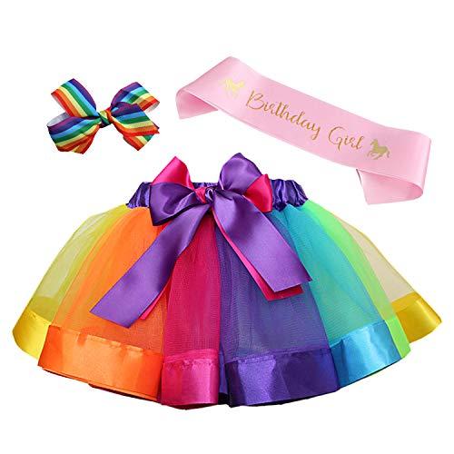 Toycost Layered Rainbow Tutu Skirt Costumes Set with