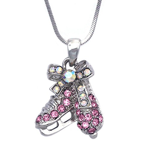 Ice Figure Skating Shoes Skate Pendant Necklace Jewelry