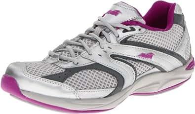 AVIA Women's Avi Shape Walking Shoe,Chrome Silver/Ash Grey/Sugar Plum,10.5 M US
