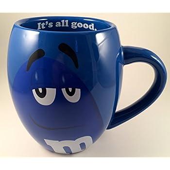 MM's Big Face Ceramic Mugs (Blue) m&m m & m