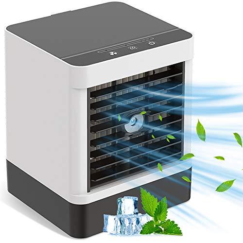 Portable Air Cooler Personal Mini Evaporative Cooler , 3 Speeds Quiet Desk Air Conditioning Fan Misting Personal Air…