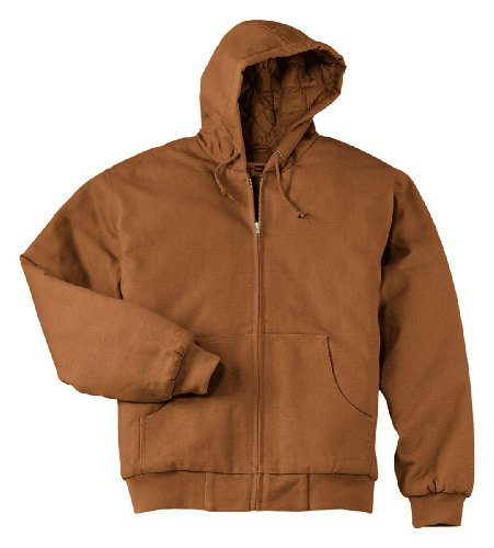 - Cornerstone Men's Heavyweight Thermal Full-Zip Sweatshirt_Duck Brown_2XL