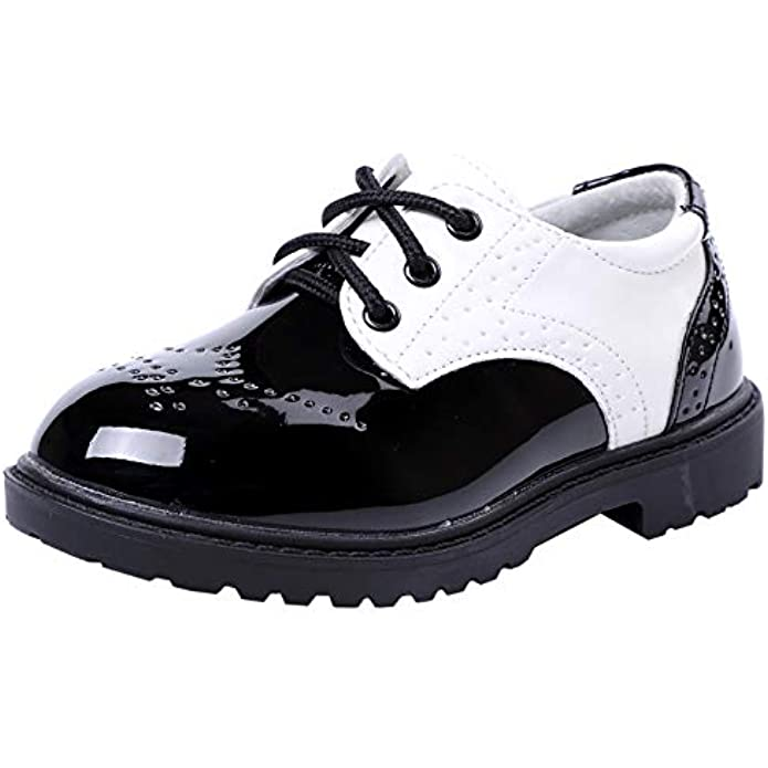 DADAWEN Children's Boy's Girl's Lace-Up School Uniform Shoes Comfort Oxford Dress Shoes (Toddler/Little Kid/Big Kid)