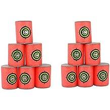 12pcs Soft Foam Target Cans for Nerf Guns Games