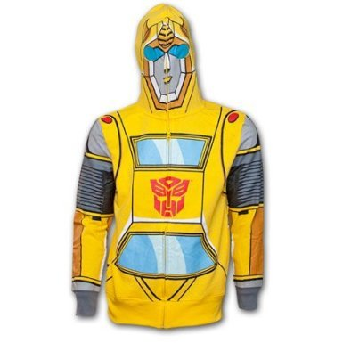 Adult Bumblebee Transformer Costumes (Transformers Bumblebee Costume Hoodie For Adult (M))