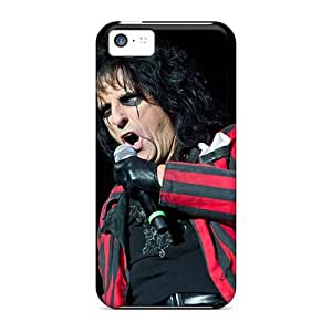 Shock Absorption Cell-phone Hard Cover For Iphone 5c (Yag12737MoPp) Customized Trendy Alice Cooper Band Series