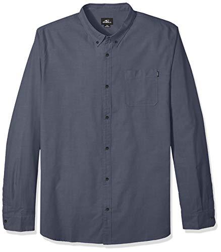 O'Neill Men's Modern Fit Oxford Long Sleeve Button UP Shirt, Banks Navy, XL